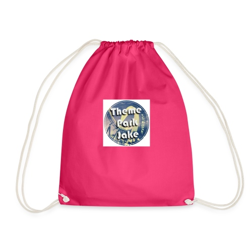 THEME PARK JAKE LOGO - Drawstring Bag