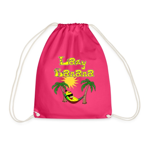 Who is as chilly as the Lazy Banana - Drawstring Bag
