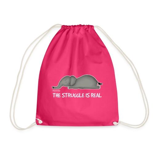 Amy's 'Struggle' design (white txt) - Drawstring Bag