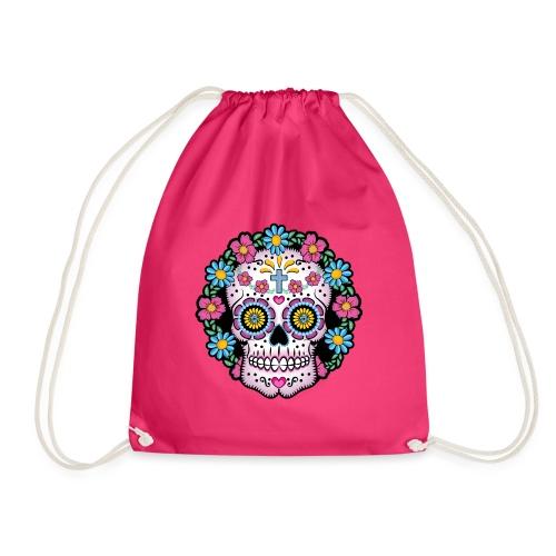 Dia de los Muertos Skull- - Drawstring Bag