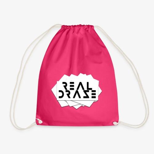 RealDraze logo weiß mit schwarzer schrift png - Turnbeutel