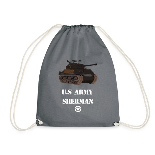 Sherman Tank WW2 - Drawstring Bag