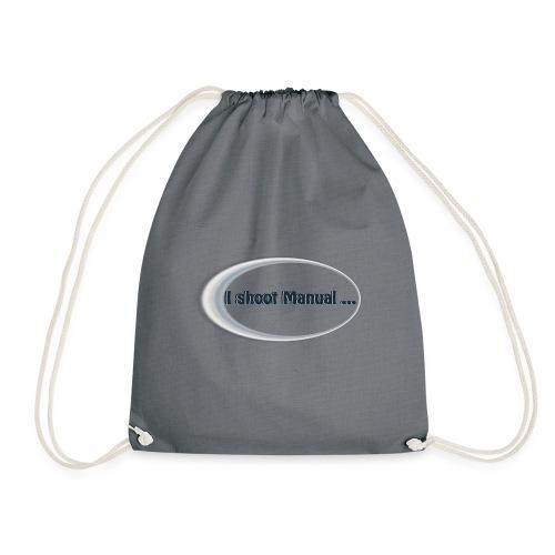 I shoot manual slogan - Drawstring Bag