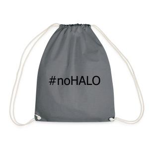 #noHALO black - Drawstring Bag