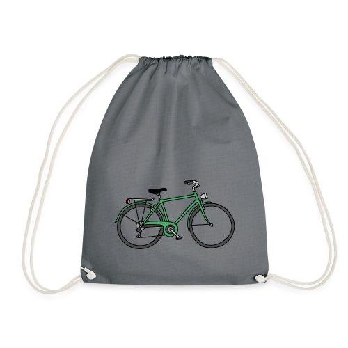 Grünes Fahrrad Bike - Turnbeutel