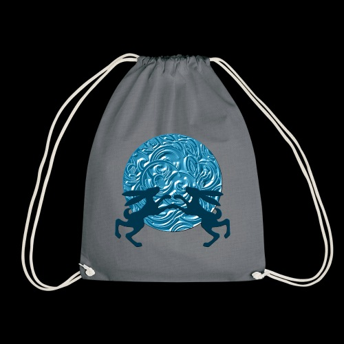 Hares : Once in a blue moon - Drawstring Bag