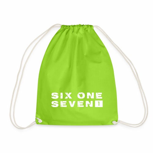 SIX ONE SEVEN 1 PROJECT LOGO FULL 1 WHITE - Drawstring Bag