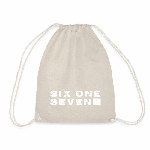 SIX ONE SEVEN 1 PROJECT LOGO FULL 1 WHITE - Drawstring Bag