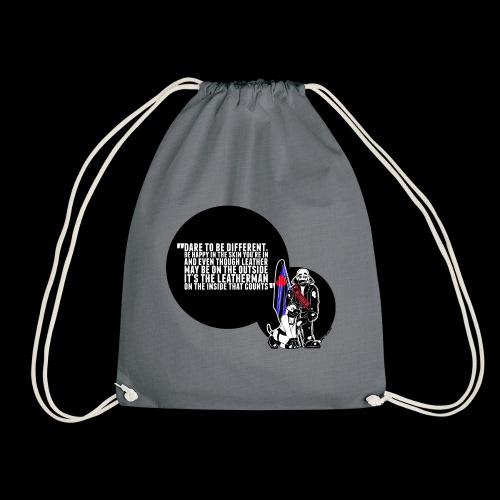 Mr Leather UK 2017 with Slogan - Drawstring Bag