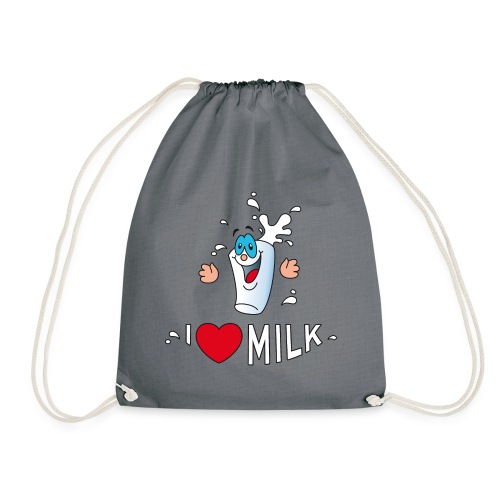 I love milk built this body Milch Kuh Stall Weide - Drawstring Bag