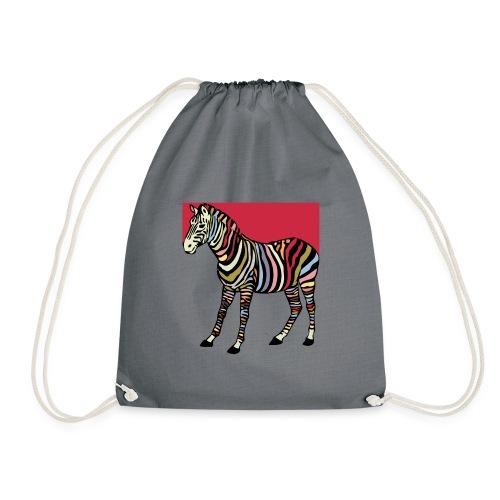 zebra tshirt design - Drawstring Bag