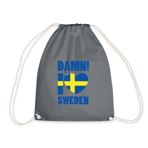 Damn! I love Sweden - Gymnastikpåse