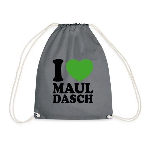 I love Mauldasch - klassik - Turnbeutel