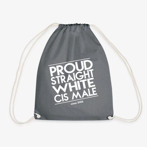 Proud straight white cis male - Turnbeutel