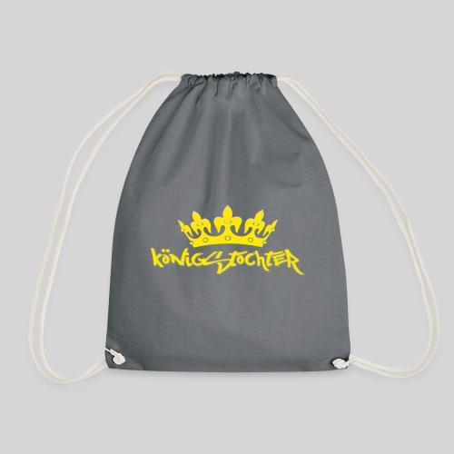 Königstochter m. Krone über der stylischen Schrift - Turnbeutel