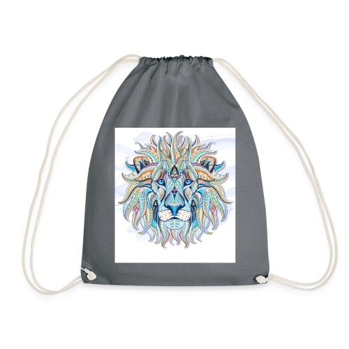 stock vector patterned head of the lion on the gru - Mochila saco
