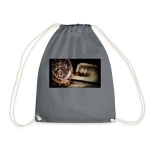 time is moeny - Drawstring Bag