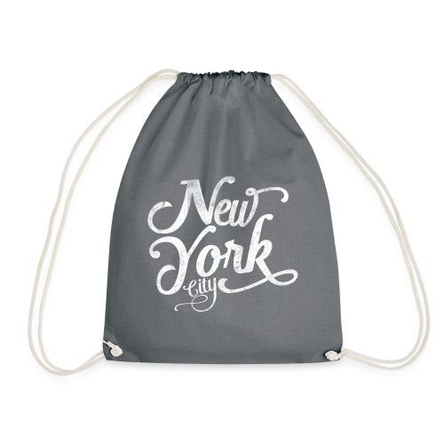 New York City typography - Drawstring Bag