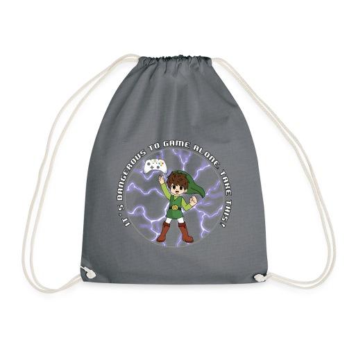 Dangerous To Game Alone - Drawstring Bag
