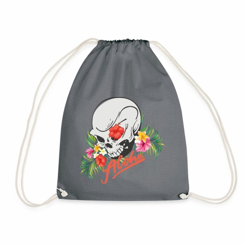 Hawaiian Skull Aloha Surfer Design - Turnbeutel