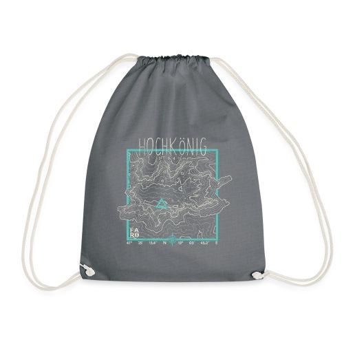 Hochkoenig Contour Lines - Square - Drawstring Bag
