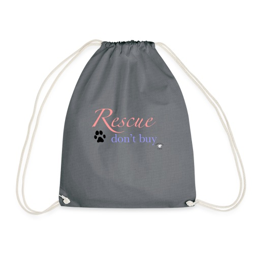 Rescue don't buy - Drawstring Bag