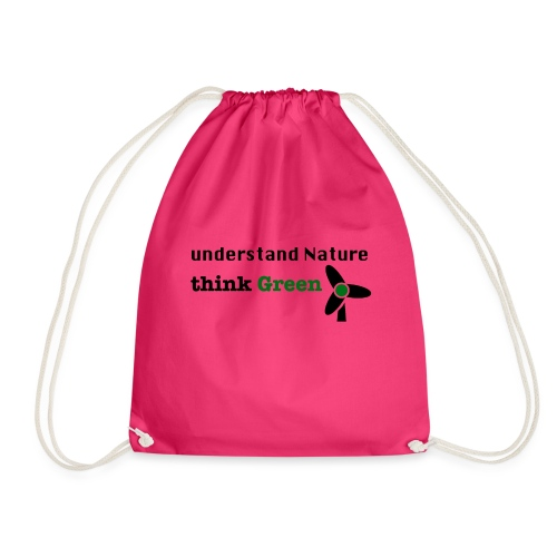 Understand Nature. Think Green! - Drawstring Bag
