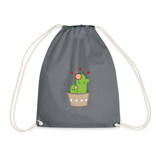 Kaktus Mama mit Kaktus Baby - Turnbeutel