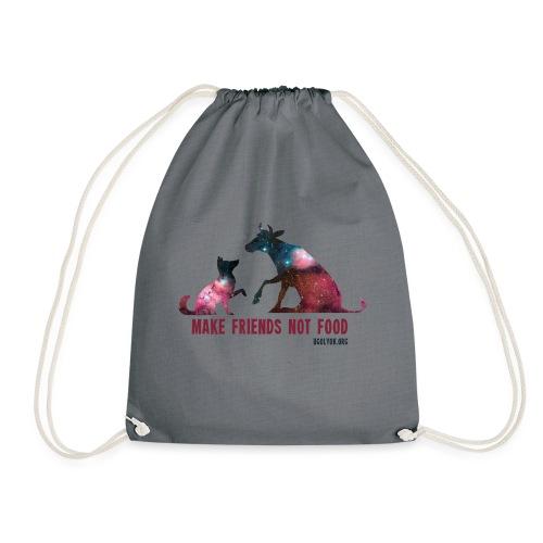 Make Friends Not Food #1 - Drawstring Bag