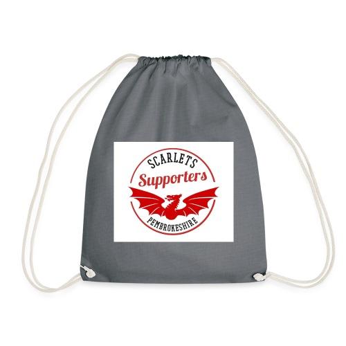 Scarlets Supporters Pembrokeshire Logo - Drawstring Bag