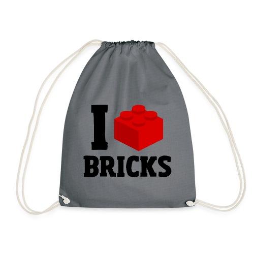 I Love Bricks - Turnbeutel