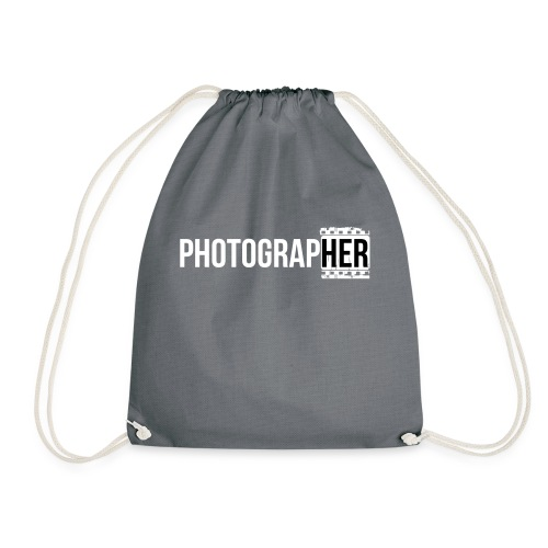Photographing-her - Drawstring Bag