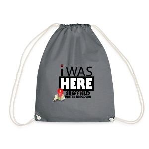 I Was Here Sheffield United Kingdom - Drawstring Bag