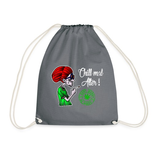 Chill old age, smoke weed everyday, vintage - Drawstring Bag