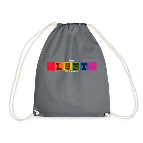 The LGBT Network Logo White - Drawstring Bag
