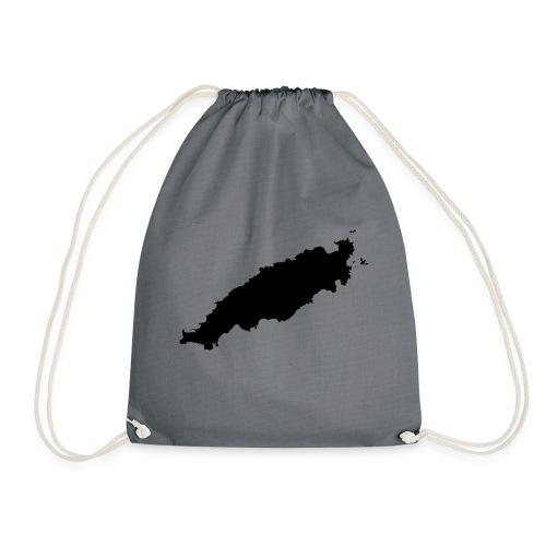 Tobago Silhouette - Drawstring Bag