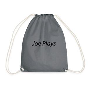 Joe Plays Black logo - Gymbag