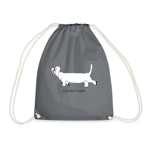 Love basset hounds - Sportstaske