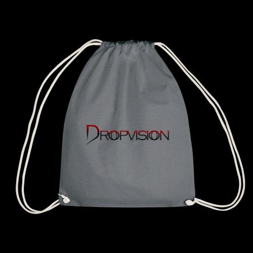 Dropvision logga röd - Gymnastikpåse