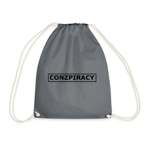 CONZPIRACY wording - Drawstring Bag