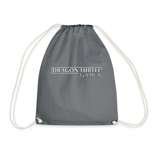 Dragon Turtle Games Logo White - Drawstring Bag