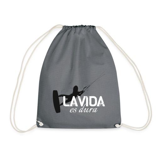 La Vida es Dura - Kitesurf Woman - Drawstring Bag