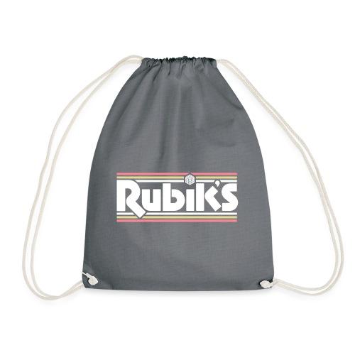 Rubik's Cube Retro Logo - Drawstring Bag