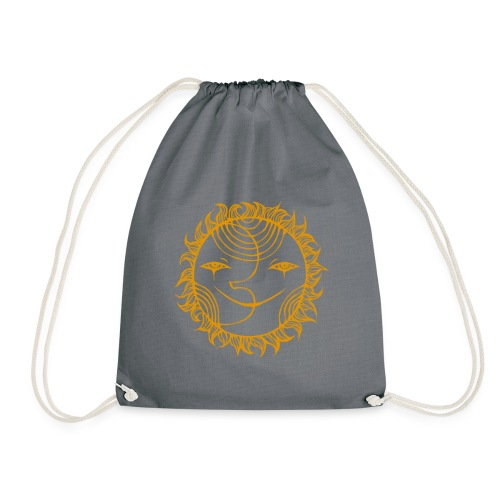 Golden Sunmoon Rising - Drawstring Bag