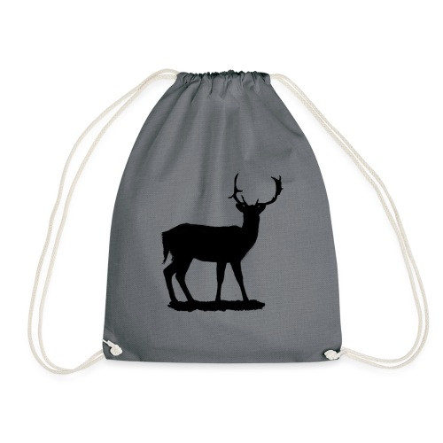 Silueta ciervo en negro - Mochila saco