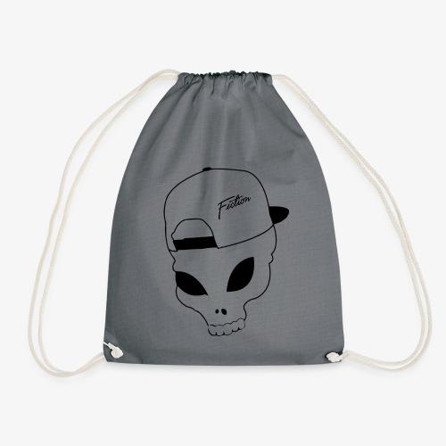 Skull-Alien-Snapback .png T-Shirts - Drawstring Bag