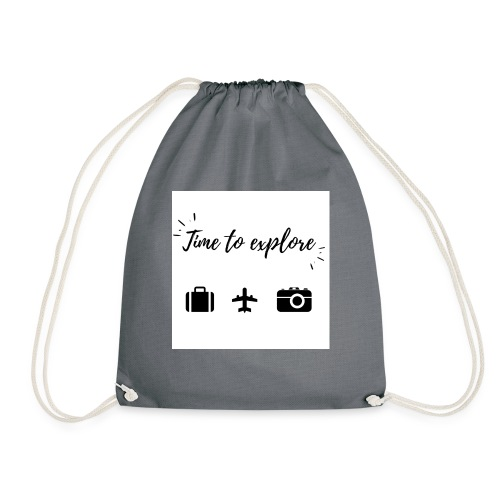 Time to explore - Drawstring Bag