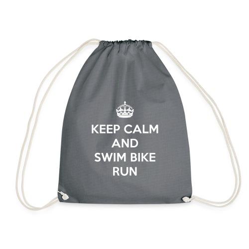 Keep Calm and Swim Bike Run - Worek gimnastyczny