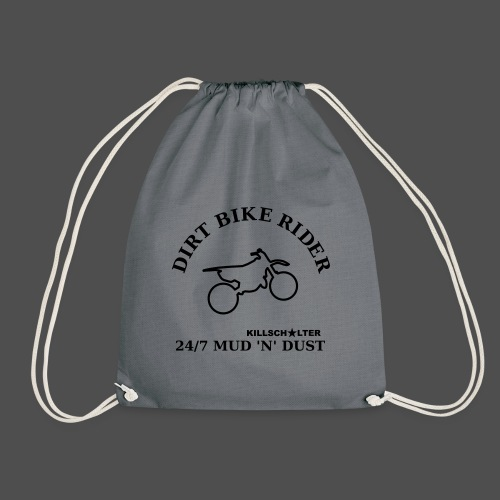 DIRT BIKE RIDER MUD N DUST - Drawstring Bag