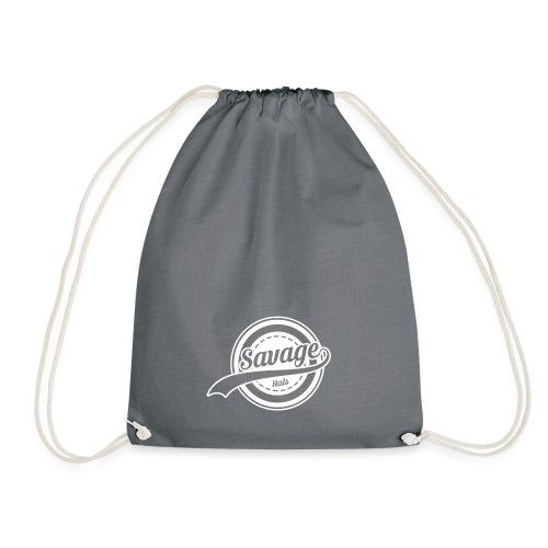 Savage Hals White Logo - Drawstring Bag